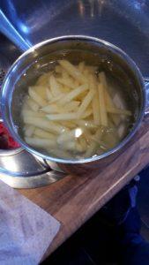 patat; bakken