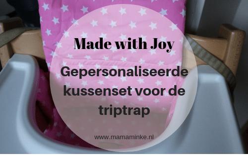 review made with joy webshop handgemaakte baby- en kinderproducten kussenset voor de trip trap stoel van Stokke. uitgelichte afbeelding