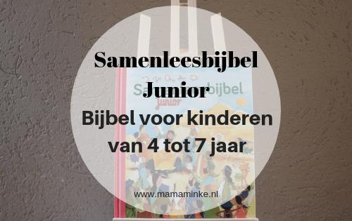 samenleesbijbel junior een bijbel voor kinderen van 4 tot 7 jaar oud. In navolging op het succes van de samenleesbijbel. Met 30 verhalen en veel leuke extra's. Uitgelichte afbeelding