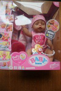Nieuwe baby born soft touch en party set met accesoires review. De pop