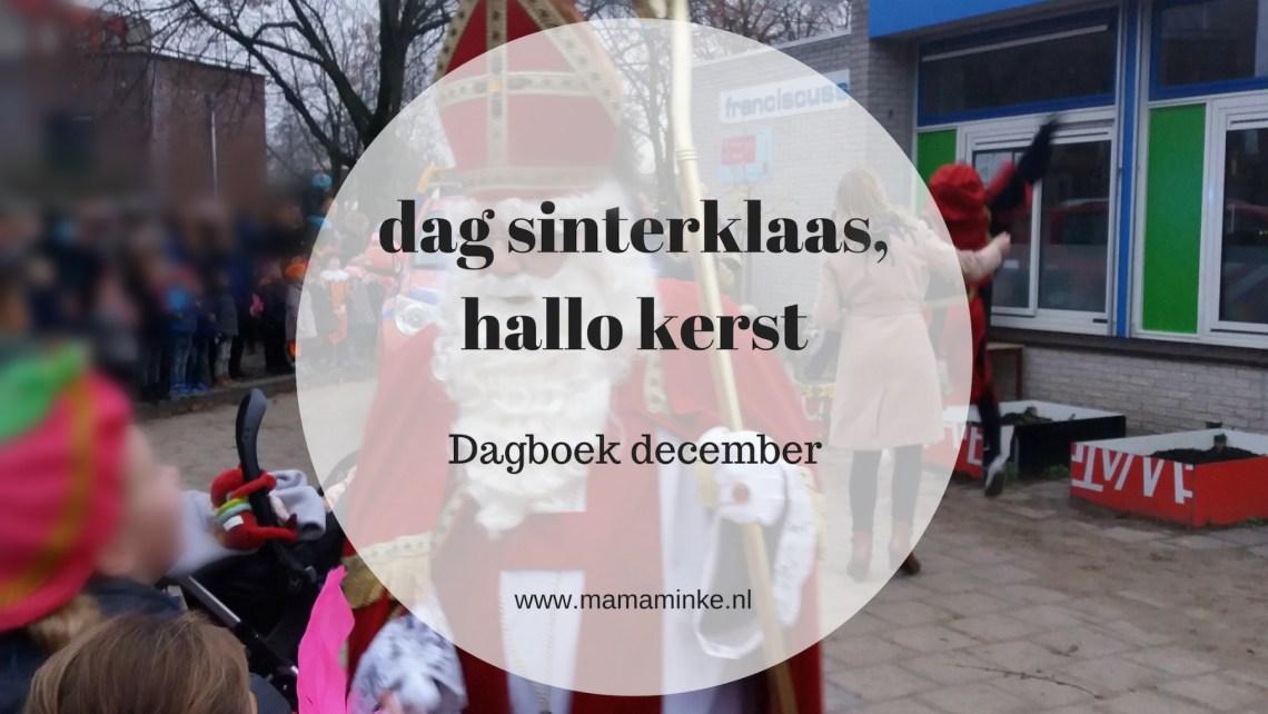 dagboek dag sinterklaas, hallo kerst