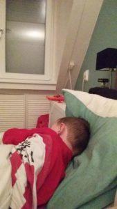ziek in bed zondag