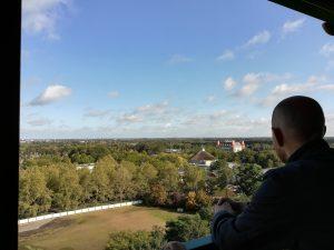 Uitzicht naar ons hotel