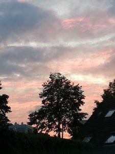 Prachtige lucht, natuur
