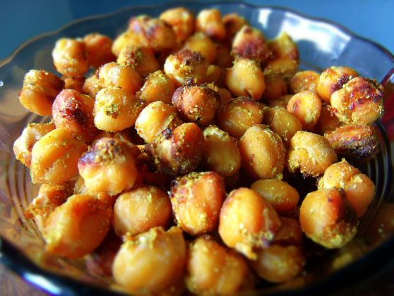 honey curry roasted chickpeas