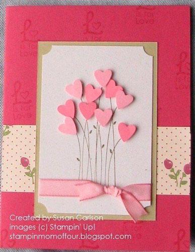 वेलेंटाइन डे के लिए शिल्प: फूल दिल
