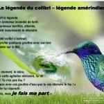 Ikigaï : ce dont le monde a besoin - Je fais ma part (légende du colibri)