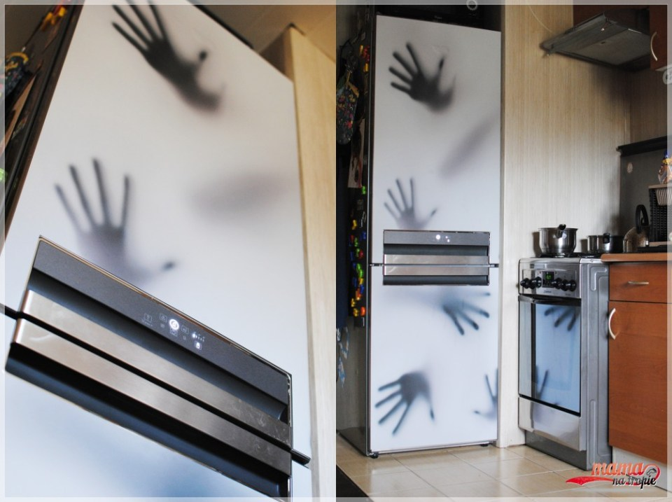 metamorfoza kuchni, inspiracje, mata na lodówkę