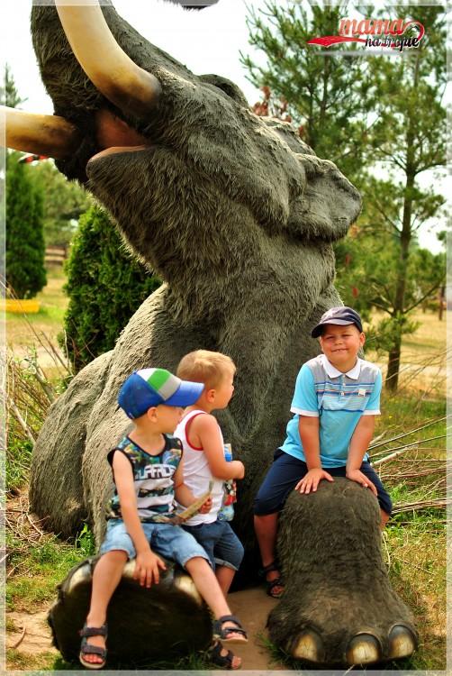 mamut, park dinozaurów, Wrzosowo, dla dzieci