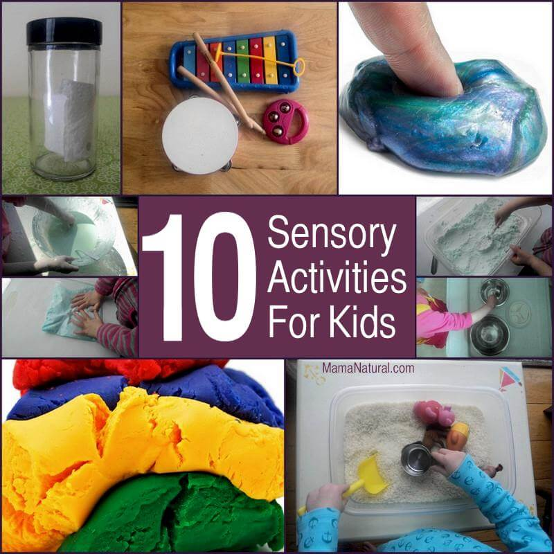 10 fun sensory activities to do with your kids when you're stuck inside by http://MamaNatural.com