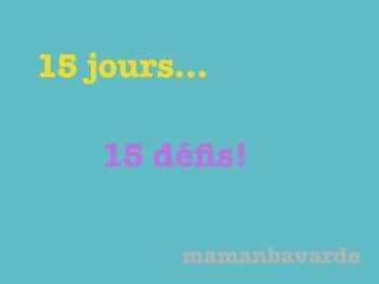 15 jours 15 défis