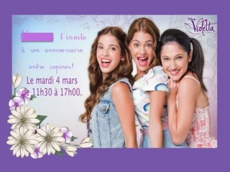 Son Anniversaire Sur Le Theme De Violetta