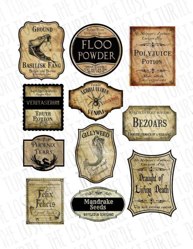 bouteilles Harry Potter