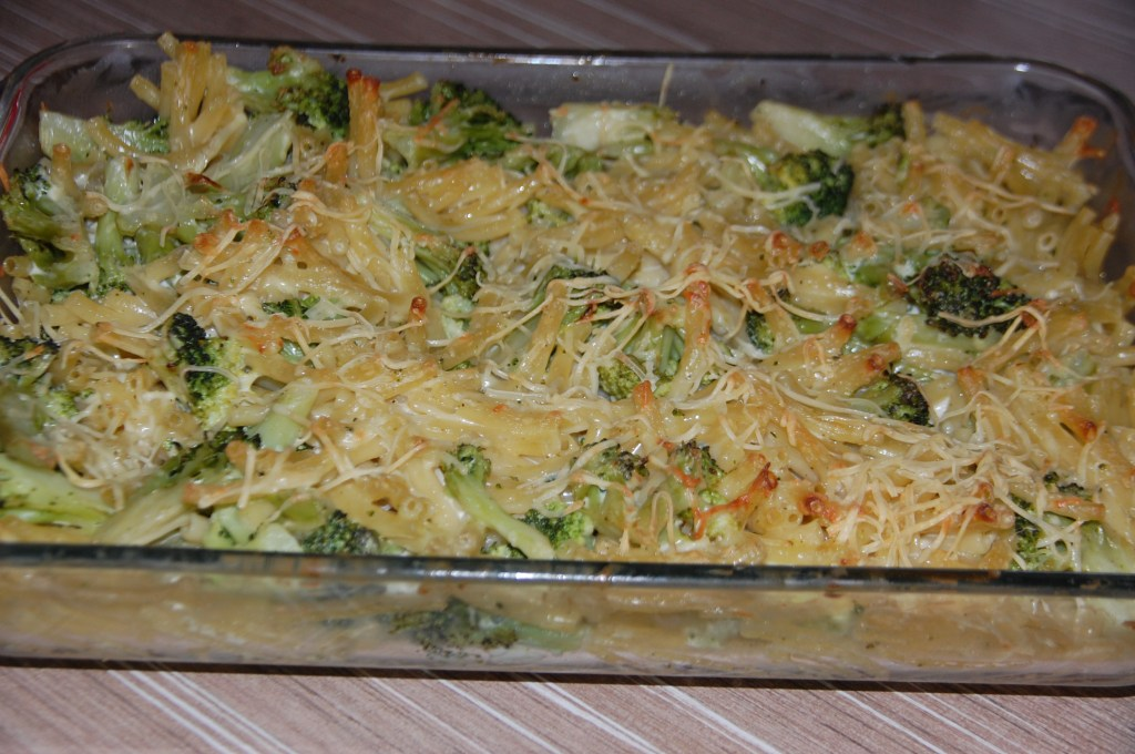 Gratin macaronis et brocolis