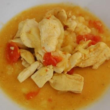 Fricassée de poulet au curry