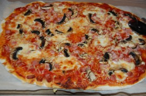 Pizza jambon/champignon/fromage