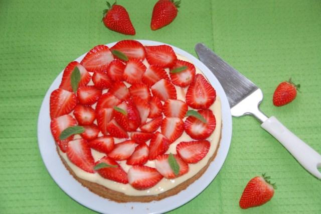 Tarte sablée aux fraises