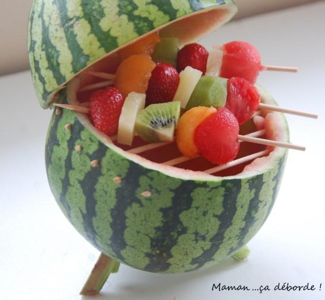 Mon barbecue de fruits