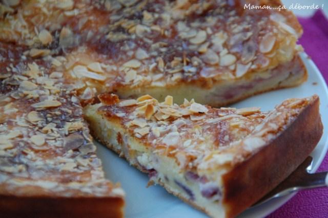 Gâteau nectarine et amande