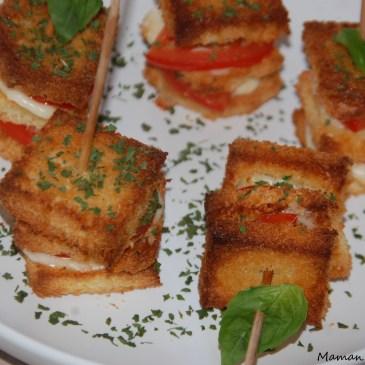 Brochettes mozzarella et tomate