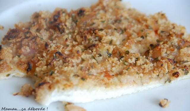 Filet de limande en crôute d'échalotes et citron
