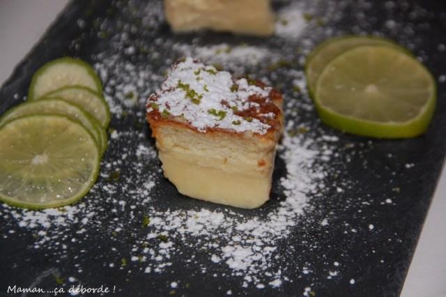 Gâteau magique au chocolat blanc et citron vert