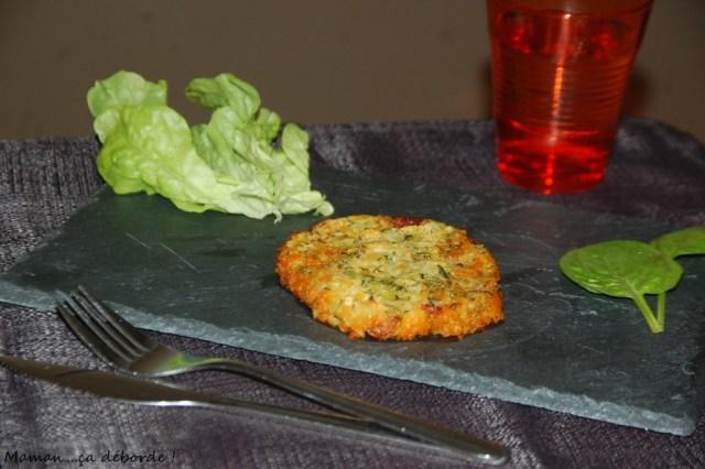 Galette courgette, lentille corail et chorizo