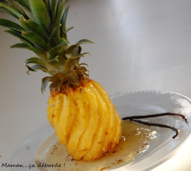 Ananas rôti au beurre vanillé