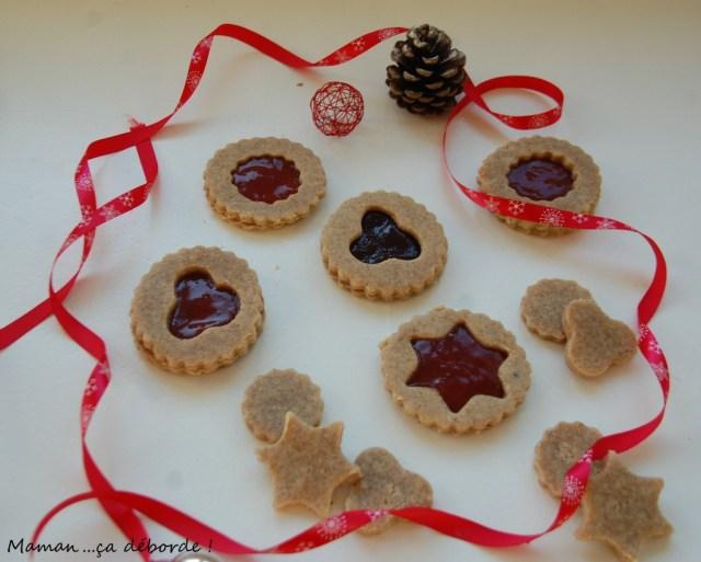 Biscuits noisette et confiture (sans gluten)