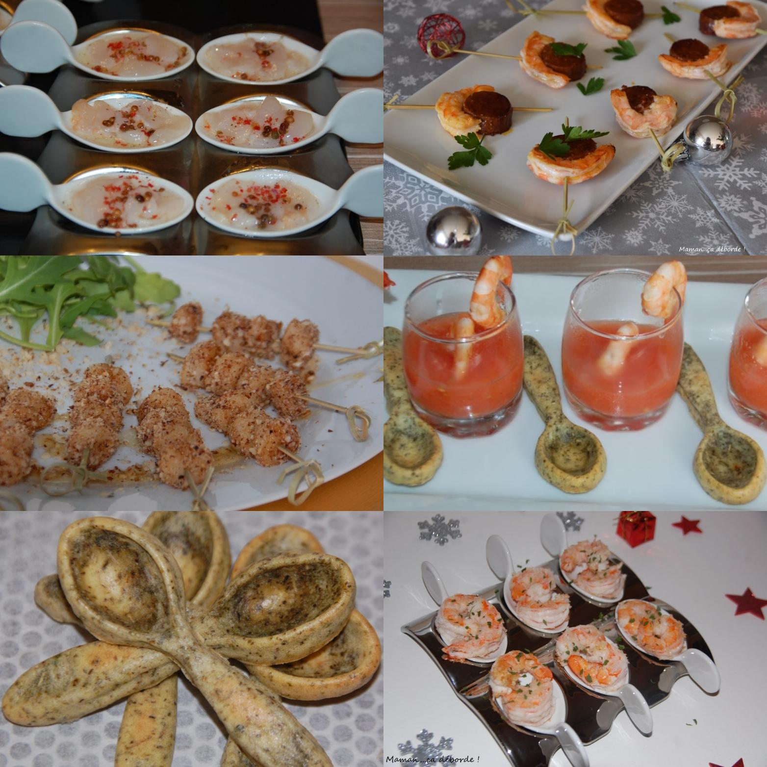 Apéritifs de Noël – Variation autour des crustacés