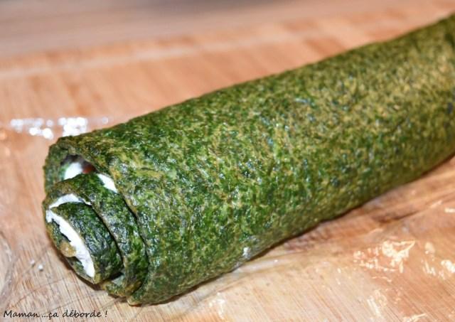 Roulé épinard, boursin et saumon3