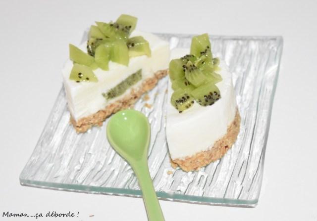 Mini cheesecake coeur de kiwi