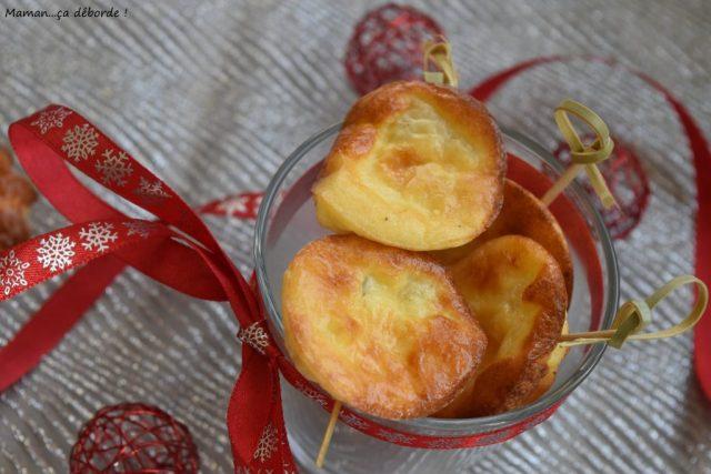 Petits flans aux poires et parmesan