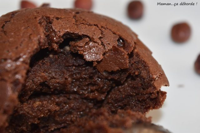 Fondant chocolat noisette sans gluten et sans lactose