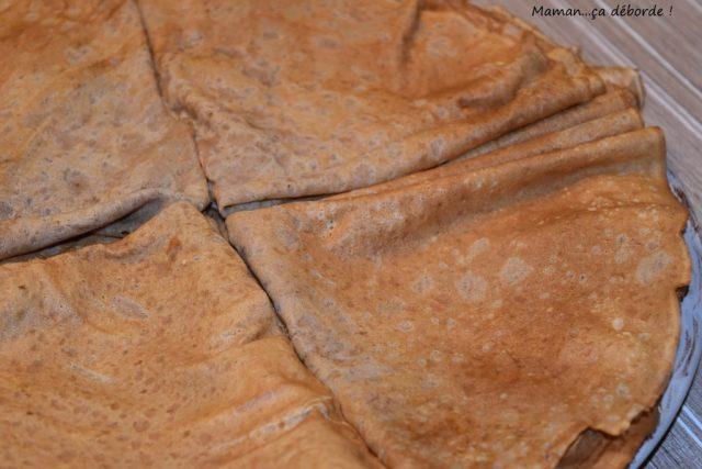 Crêpe à la farine de châtaigne