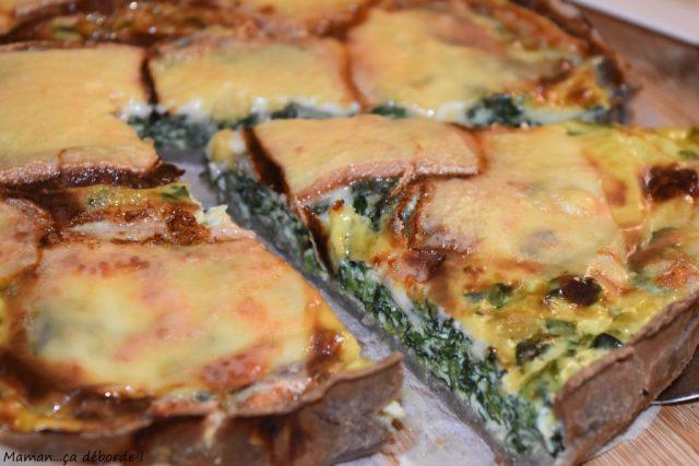 Tarte épinard et fromage à raclette