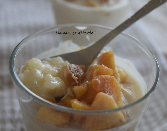 Riz au lait avec ses pommes caramélisées