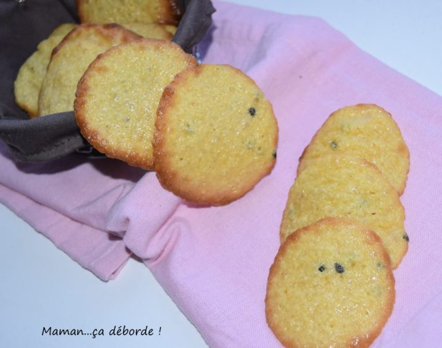 Tuiles aux fruits de la passion