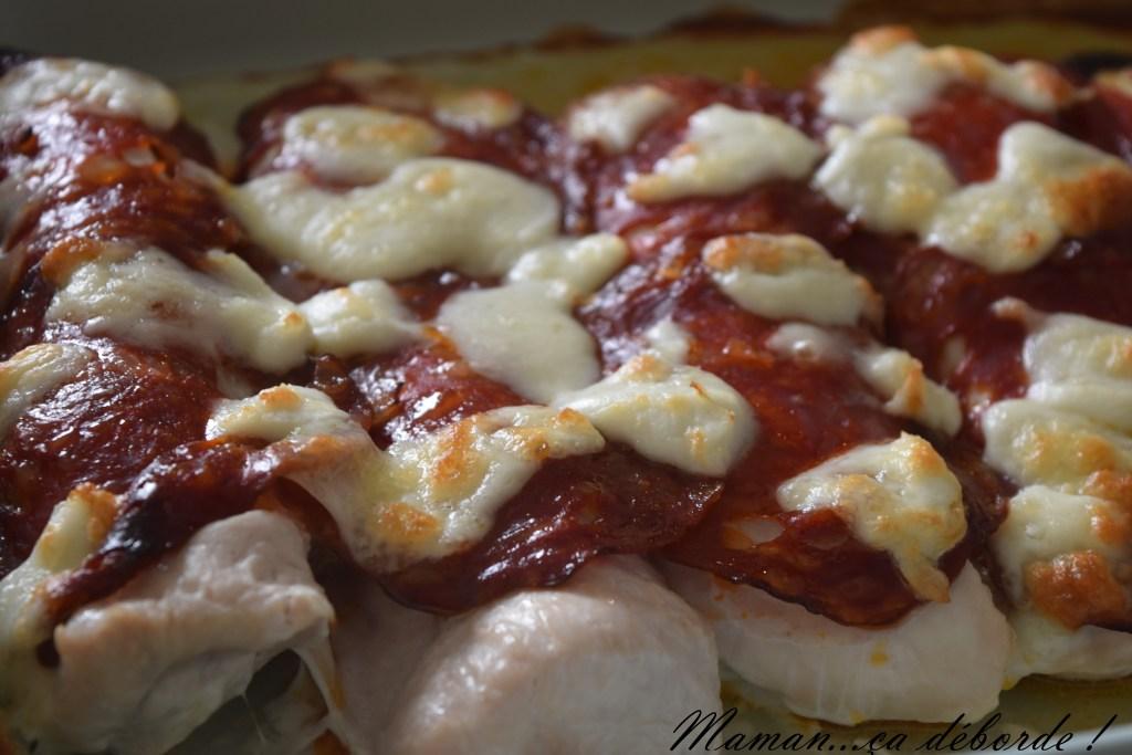Escalopes de dinde gratinées au chorizo