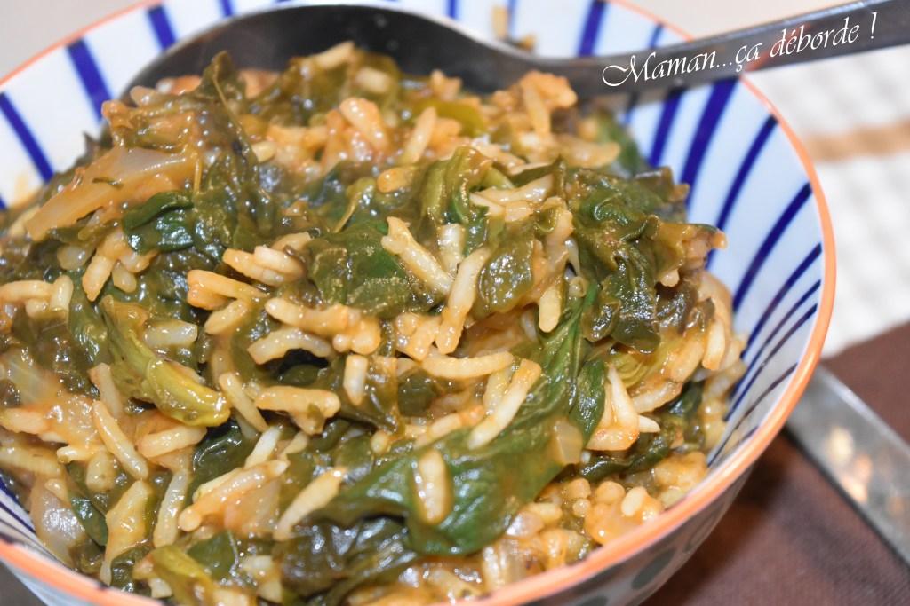 Spanakorizo - Le riz aux épinard grec