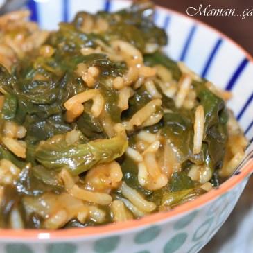 Spanakorizo – Le riz aux épinard grec