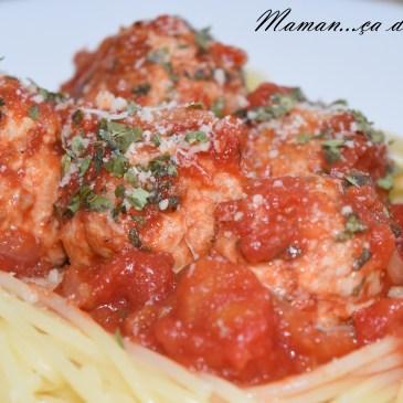 Boulettes de dinde à la tomate