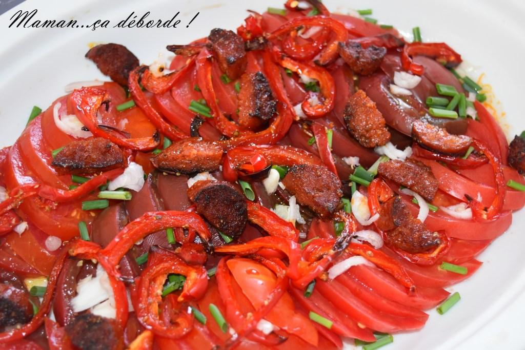 Salade de tomates à l'espagnol