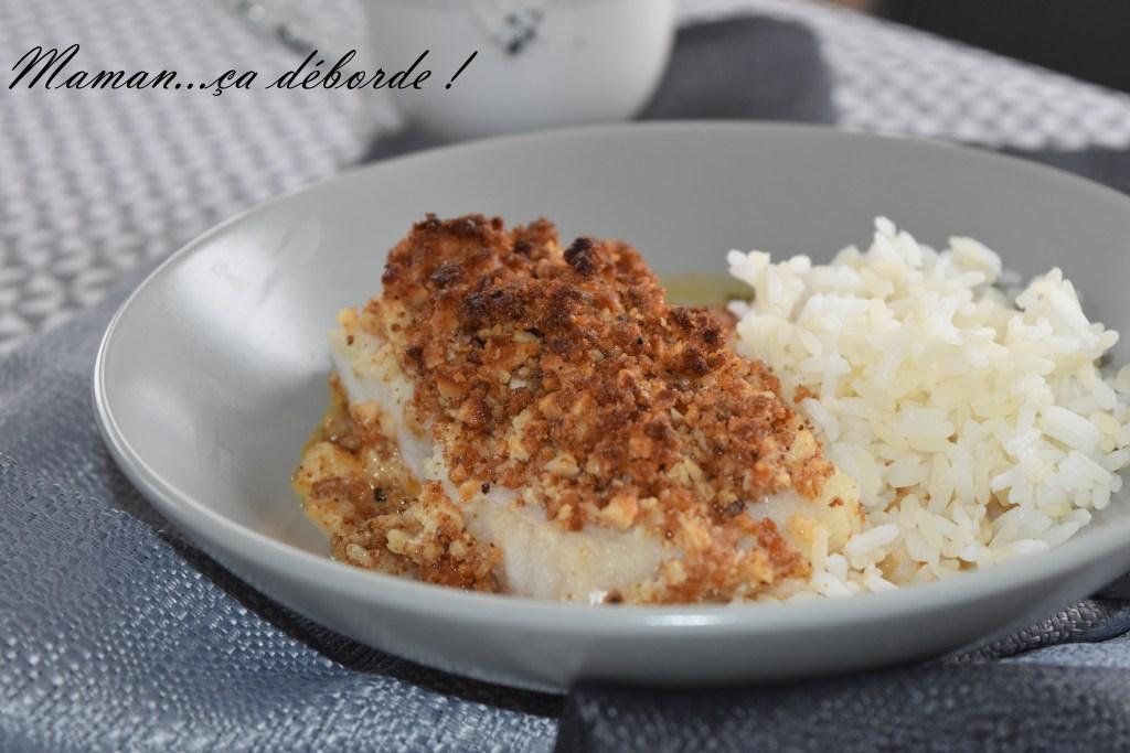 Filet de limande en croûte de noix de macadamia