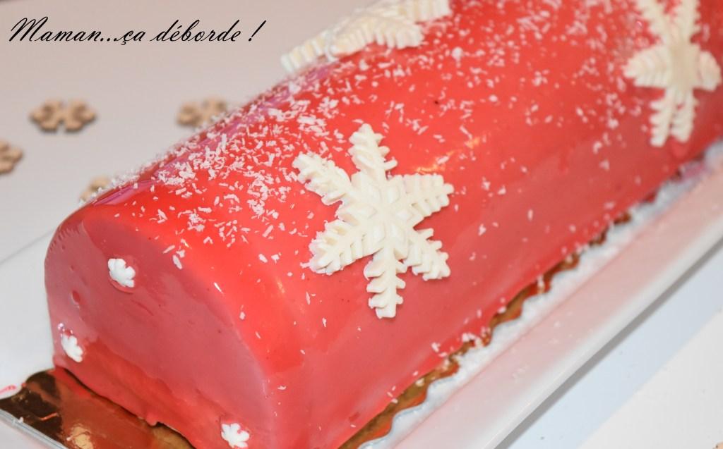 Bûche fraise et vanille