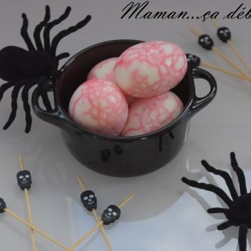 Oeufs marbrés – Halloween