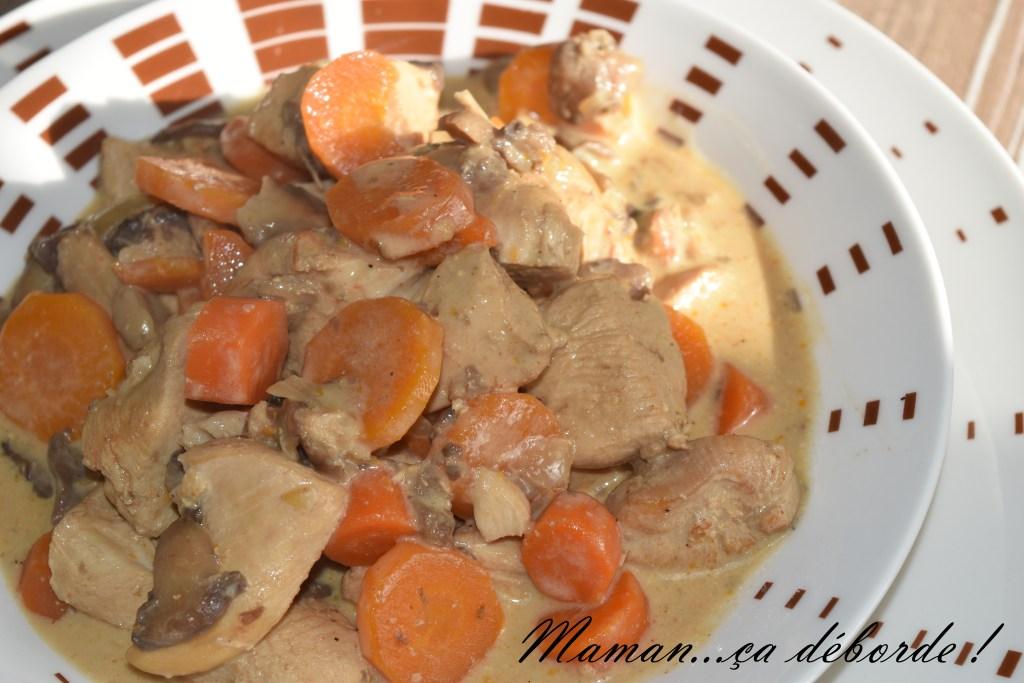 Poulet crémeux aux carottes