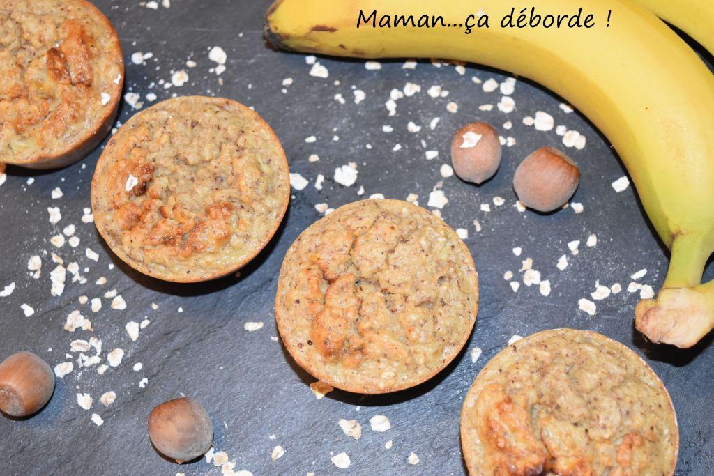 Petits cakes banane noisette