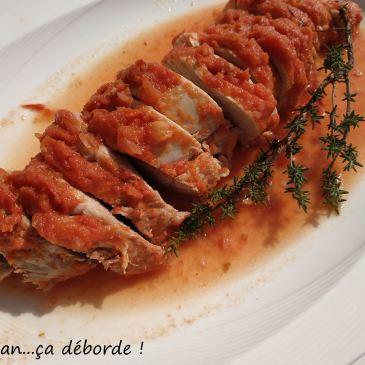 Filet mignon de porc à la crème tomatée