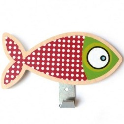 Patère poisson rouge Série-Golo